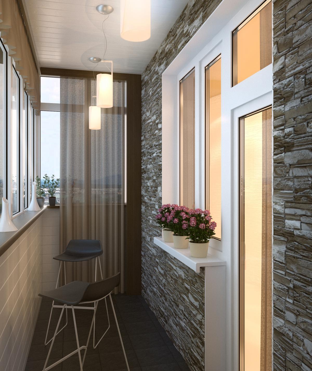 Как застеклить балкон дизайн