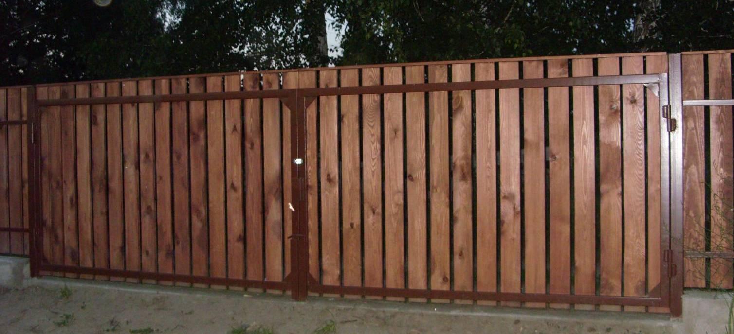 из дерева ворота и калитки фото